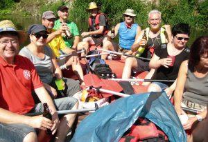 2016 Schlauchboottour Kr.Hufe Start Alle im Boot